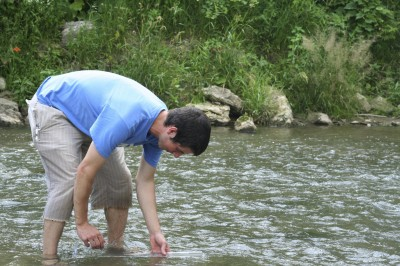 Measuring Water Clarity in Otter Creek, Elgin Iowa