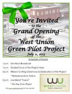 West Union Green Pilot Project Grand Opening @ West Union | Iowa | United States